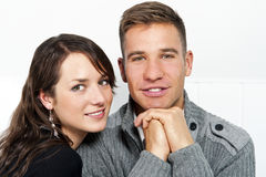 Couple on date in restaurant man and woman Royalty Free Stock Photo