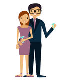 Couple on a date. Young family at a party Royalty Free Stock Image