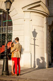Couple dating in city Royalty Free Stock Photography