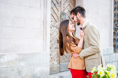 Couple dating in city Stock Photo