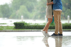 Couple Dating in Rain Royalty Free Stock Photography