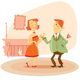 Couple dating vector illustration Royalty Free Stock Images