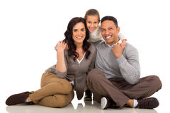 Couple with daughter Stock Photos