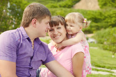 Couple with daughter Royalty Free Stock Images