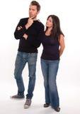 Couple deciding Royalty Free Stock Photos