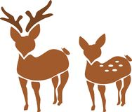Couple of deer Royalty Free Stock Image