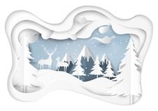 Snow and winter season with nature landscape background Royalty Free Stock Photo