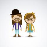 Couple design Royalty Free Stock Photos