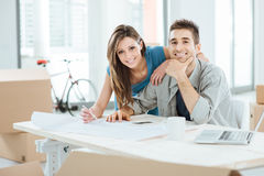Couple designing their dream house Royalty Free Stock Image