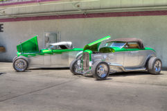 Couple of Deuce Hot Rods Done in HDR Stock Image