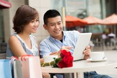 Couple with digital tablet Royalty Free Stock Photo