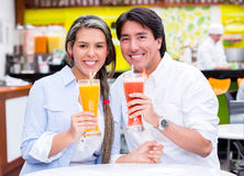 Couple at the diner Stock Image