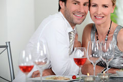 Couple dining Royalty Free Stock Photo