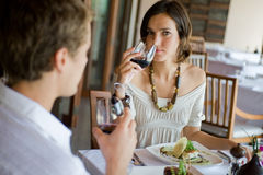 Couple Dining Stock Images