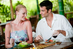 Couple Dining Stock Photography