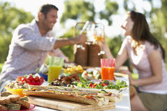 Couple Dining Al Fresco royalty free stock photo