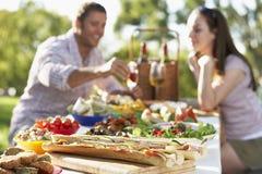 Couple Dining Al Fresco Stock Image