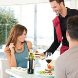 Couple Dining At Restaurant Stock Images