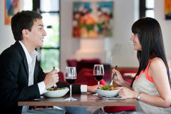 Couple Dining Together Stock Photos