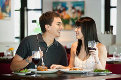 Couple Dining Together Royalty Free Stock Photos