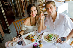 Couple At Dinner Stock Photo