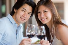 Couple At Dinner Royalty Free Stock Photos