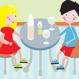 Couple at dinner table Royalty Free Stock Photo