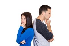 Couple in disagreement Royalty Free Stock Photo