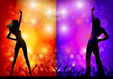 Couple on disco Royalty Free Stock Images