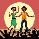 Couple of disco dancers. Vector illustration graphic design vector illustration