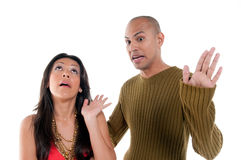 Couple discussing royalty free stock images