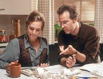 Couple discussing finances Stock Photos