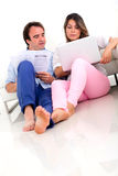 Couple discussing their finances Stock Photo