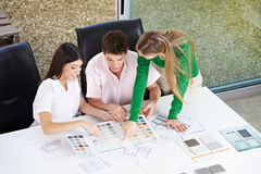 Couple discussion building materials Stock Photo