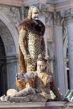 Couple disguised as a leopard during the Carnival of Venice Royalty Free Stock Photo