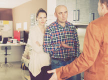 Couple is dissatisfied with the quality Stock Photos
