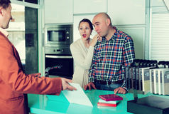 Couple is dissatisfied with the quality Stock Photography