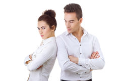 Couple in divorce crisis Royalty Free Stock Photography