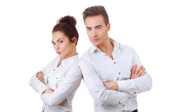 Couple in divorce crisis Royalty Free Stock Photos