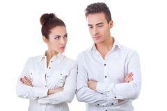 Couple in divorce crisis Stock Photography