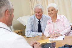 Couple in doctor's office Royalty Free Stock Image