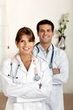 Couple of doctors Royalty Free Stock Images