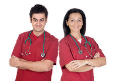 Couple of doctors Stock Photos