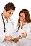 Couple of doctors Royalty Free Stock Photography