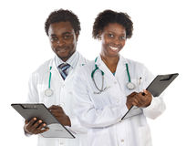 Couple of doctors Royalty Free Stock Photos