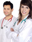 Couple of doctors royalty free stock image