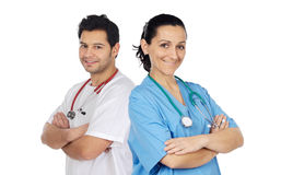 Couple of doctors stock photo