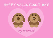 Couple dogs valentines day Stock Photos