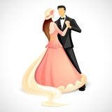 Couple doing Ball Dance. Illustration of newly married couple doing ball dance Stock Image