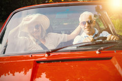 Couple doing a car trip Royalty Free Stock Images